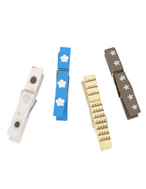 Friendship Color will be random Simple Design Wood Wooden Clip