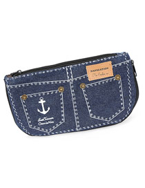 Lucky Dark Blue Denim Shorts Design Cloth Wallet