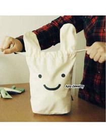 Luxury White Cute Rabbit Design Cotton Home Storage Bags