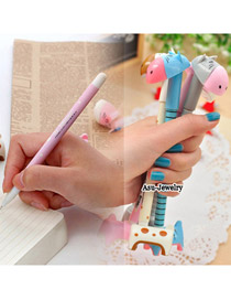 Profession Color will be random Donkey Shape Design Plastic Writing Pens