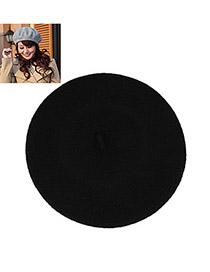 Cocktail Black Flatcap Beret Imitation wool Beanies Others