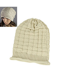 Monarchy Beige Earmuffs Knitting Wool Fashion Hats