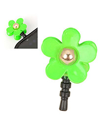 Retro Green Flower Design Alloy Mobile phone products