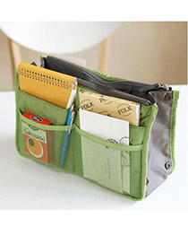 Catholic Green Zipper Design Nylon Home Storage Bags