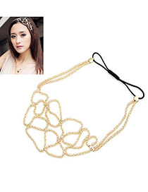 Stainless Gold Color Hollow Out Design Alloy Hair band hair hoop