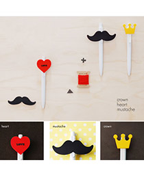 Summer Color will be random Moustache Heart Crwon Design Plastic Cord Fixer