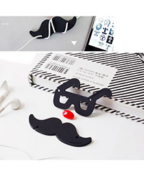 Baltic Color will be random Moustache Glassess Design Silicon Cord Fixer