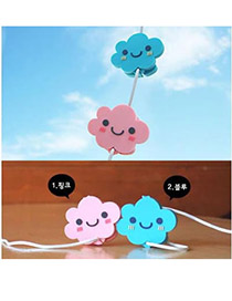 2011 Color will be random Cloud Shape Design Silicon Cord Fixer