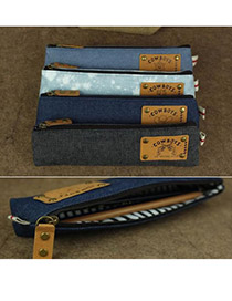 Fashion Random Color Vintage Jeans Design Cloth Pencil Case Paper Bags