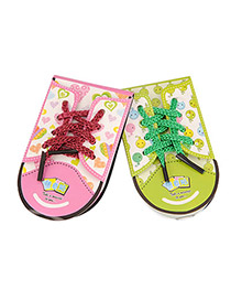 Display Color will be random Shoe Shape Design Paper Scratch Pad Sticky