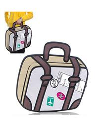 Cargo Khaki 3D Stereoscopic Effect Design PVC Handbags