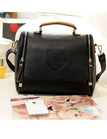 Hardy Black Simple Design PU Shoulder bags