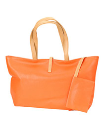 Catholic Orange Simple Design PU Handbags
