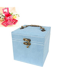Political Blue Three Layer Design Alloy Jewelry box