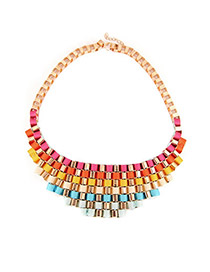 Sanctuary Multicolour Color Matching Pendant Alloy Bib Necklaces