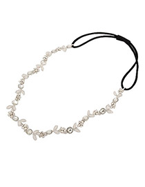 Beautiful Silver Color Flower Consist Hair Band Alloy Hair band hair hoop