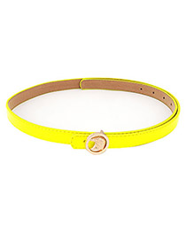Extreme Yellow Owl PU Thin belts