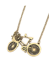 Nautical Bronze Bicycle Pendant Alloy Korean Necklaces