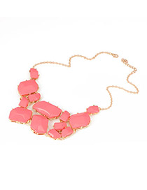 Rosary Plum Red Candy Color Pendant Acrylic Korean Necklaces