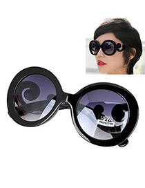 Minted With Black Frame Fashion Classic High Quality Charm Design Plastic Women Sunglasses