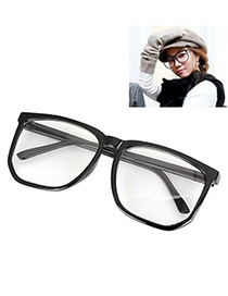 Best With Black Frame Fashion Big Frame Charm Design Plastic Fashon Glasses