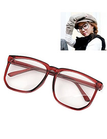 Executive With Claret-Red Frame Fashion Big Frame Charm Design