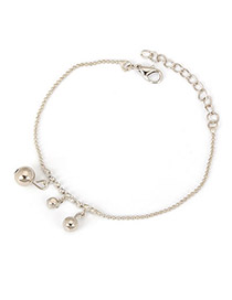 Creative Silver Color Little Balls Pendant  Design Alloy Fashion Anklets