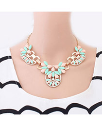 Fair Multi Colour Elegant Flower Pendant Alloy Chains