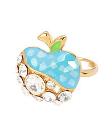 Greek Blue Apple Alloy Fashion Rings