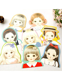 Chunky Color Will Be Random Cute Girl Pattern Design Paper Stickers Tape