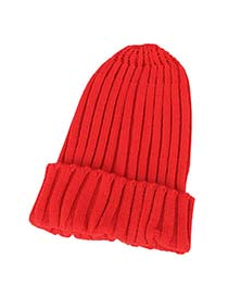 Goth Bright Red Simple Candy Color Design Knitting Wool Fashion Hats