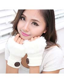 Specialty White Half Fingerless Design