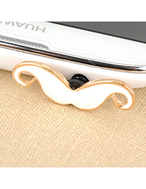 Concealed white mustache design