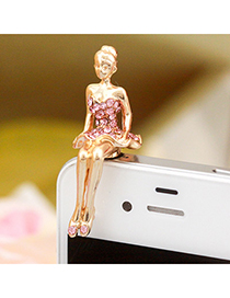 Decorative pink blink beauty design alloy Mobile phone products