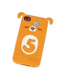 Heather Brown Sleepy Puppy Shape Silicon Iphone 4 4s