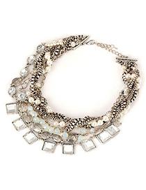 Fingerprin Antique Multilayer Twine Design Alloy Fashion Necklaces