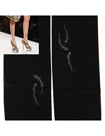 Micro Black Goldfish Pattern Yarn Fashion Stockings