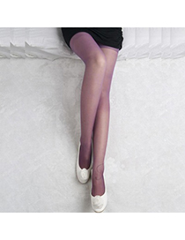 Beautiful Purple Jacquard Design Velvet Fashion Stockings