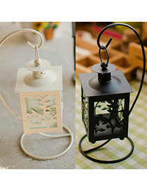 Cubic Color Will Be Random Hollow Leaves Candlestick Design Alloy Household goods