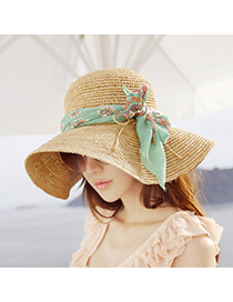 Chic Beige Hollow Out Bowknot Decorated Design Straw