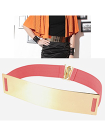 Direct Peach Red Mirror Surface Wide Design Alloy Wide belts
