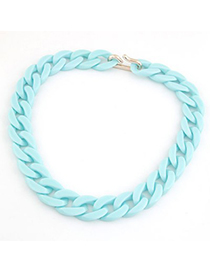 Fitness Light Blue Candy Color Simple Chain Design