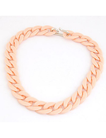 Girls Light Orange Candy Color Simple Chain Design CCB Chains