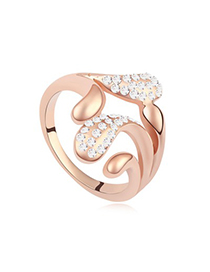 Electronic White&Rose Gold Implied Meaning Stay For Love Austrian Crystal Crystal Rings