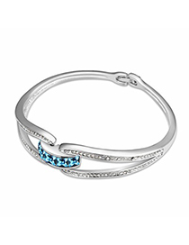Bead Ocean Blue Simple Design Austrian Crystal Crystal Bracelets