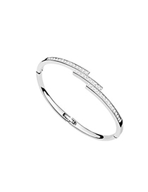 Smart White Diamond Decorated Thin Design Austrian Crystal Crystal Bracelets