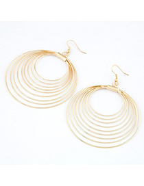 Winter Gold Color nine metal circles together