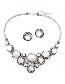 Apparel white opals decorated design alloy Jewelry Sets