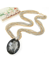 Tribal black waterdrop pendant decorated simple design alloy Chains