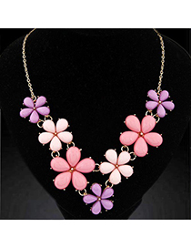 Evil pink gemstone decorated flower design